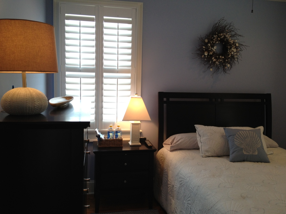 Guest Bedroom with light blue walls